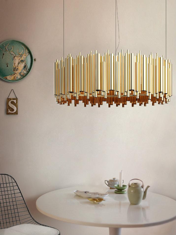 éclairage salle à manger éclairage Idées d'éclairage pour une salle à manger digne d'un intérieur de luxe Dining room lighting ideas Delightfull Brubeck 1