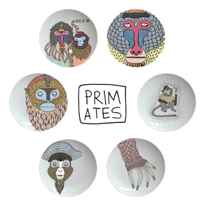 Primates_Plates_01 Maison MAISON ET OBJET 2017 - UN NOUVEAU SIGNIFICAT POUR LA CERAMIQUE DE BOSA Primates Plates 01