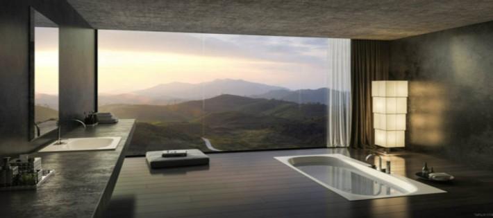bains TOP 8 MILLIONAIRES SALLES DE BAINS DANS LE MONDE salle de bain luxe design panorama 710x315