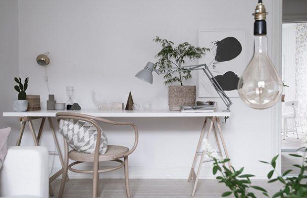 Studio déco aux tons naturels para Lovely Marquet