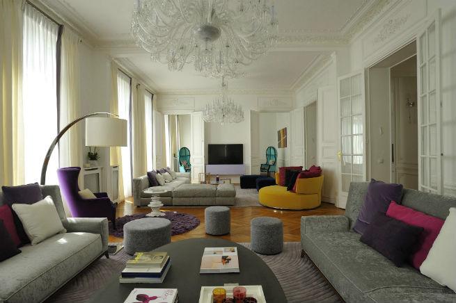 Découvrez le style moderne de cet appartement à Paris.  Découvrez le style moderne de cet appartement à Paris. Youll Love the Interiors of this Haussmann Style Apartment in Paris 1