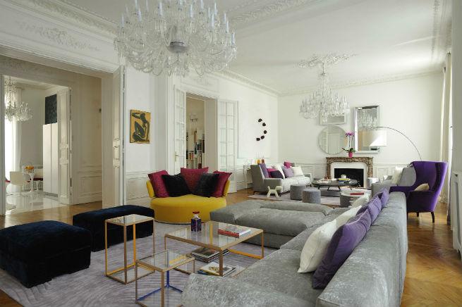 Découvrez le style moderne de cet appartement à Paris.  Découvrez le style moderne de cet appartement à Paris. Youll Love the Interiors of this Haussmann Style Apartment in Paris 3