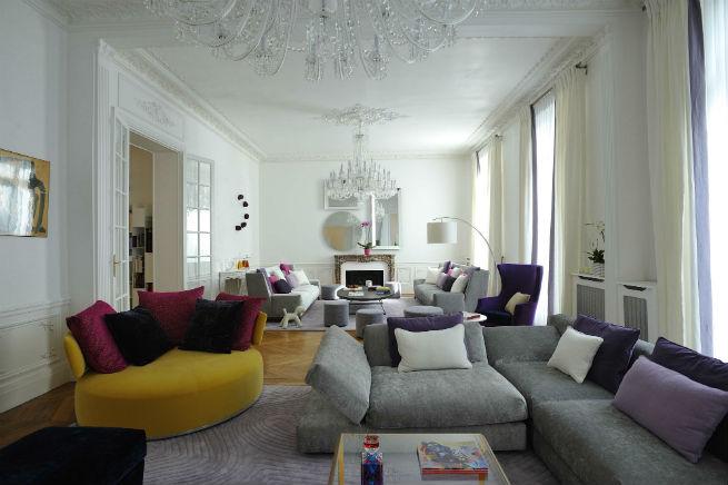 Découvrez le style moderne de cet appartement à Paris.  Découvrez le style moderne de cet appartement à Paris. Youll Love the Interiors of this Haussmann Style Apartment in Paris 4