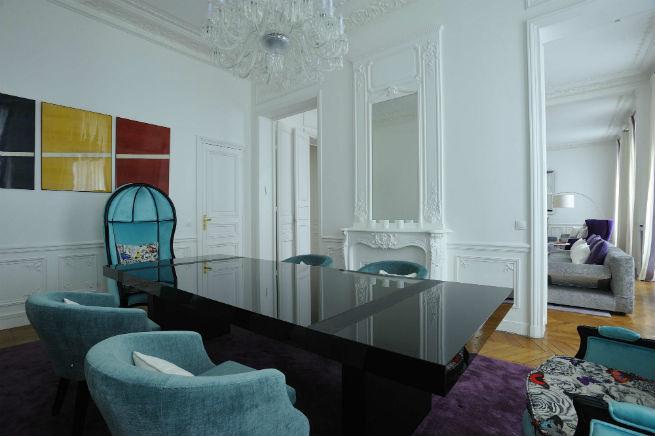 Découvrez le style moderne de cet appartement à Paris.  Découvrez le style moderne de cet appartement à Paris. Youll Love the Interiors of this Haussmann Style Apartment in Paris 7