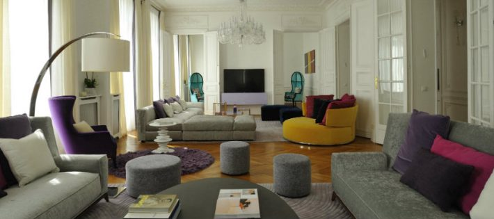 Découvrez le style moderne de cet appartement à Paris.
