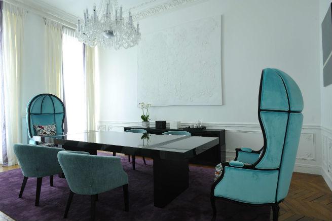Découvrez le style moderne de cet appartement à Paris.  Découvrez le style moderne de cet appartement à Paris. Youll Love the Interiors of this Haussmann Style Apartment in Paris 8