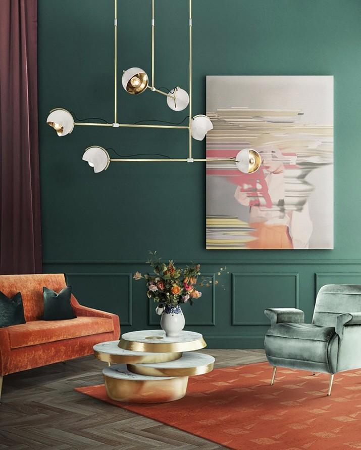 Lustres de salon pour votre maison moderne de style milieu du si cle magasins d co les - Idees decors du milieu du siecle salon ...