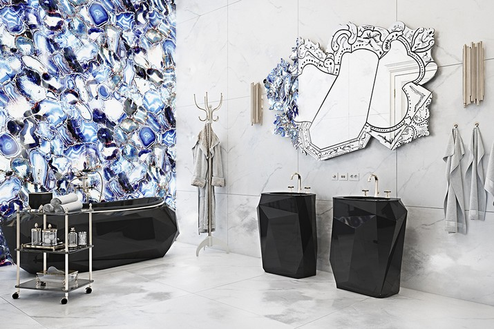 Tendances de Décoration 2018 : Salles de Bain Noir & Blanche ...