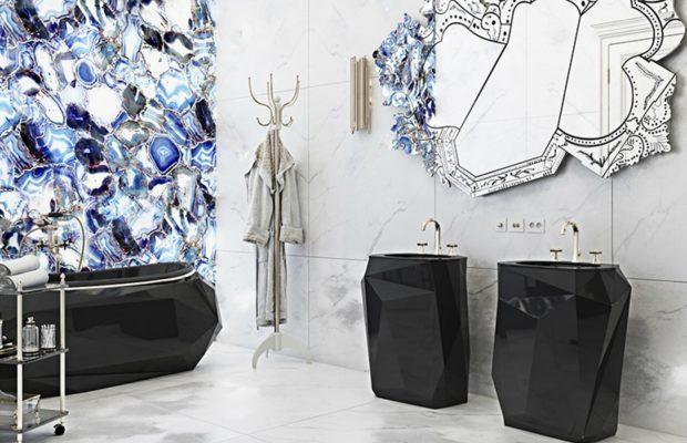 Tendances de Décoration 2018 : Salles de Bain Noir & Blanche  Tendances de Décoration 2018 : Salles de Bain Noir & Blanche luxury residence in italian countryside 2 620x400