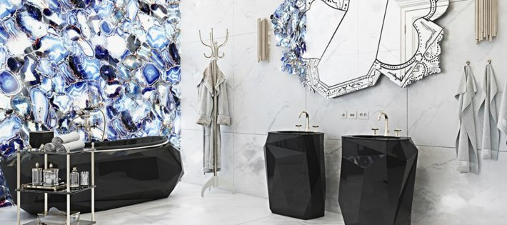 Tendances de Décoration 2018 : Salles de Bain Noir & Blanche luxury residence in italian countryside 2 710x315