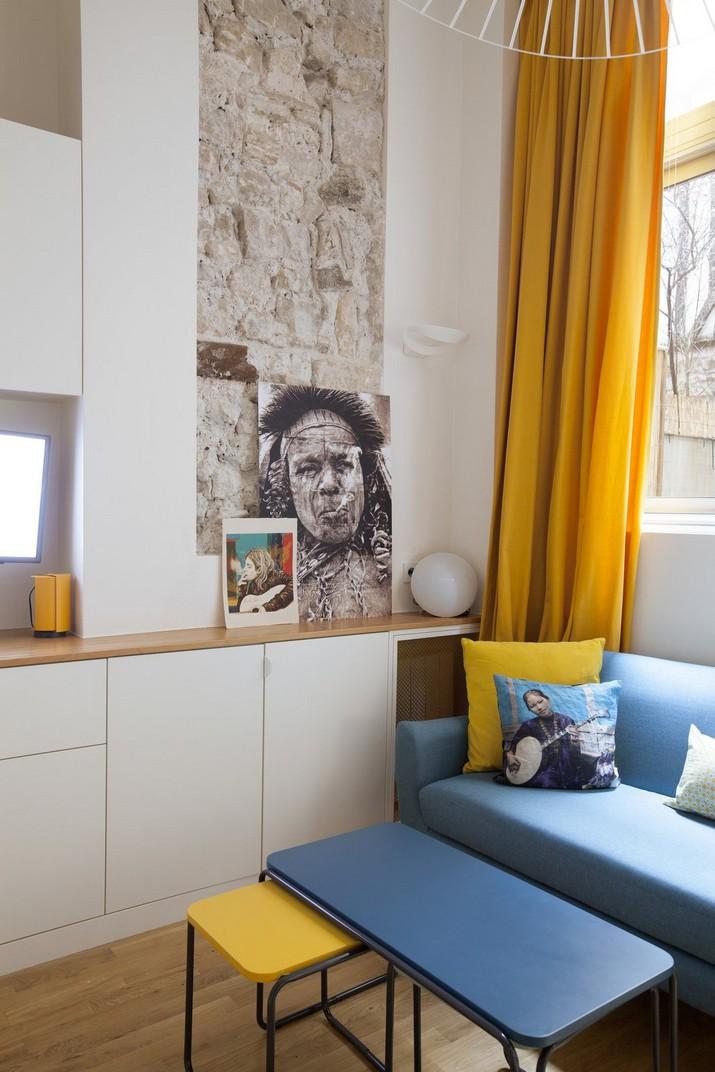 Un Petit Pied-à-Terre de 40m2 a Paris par l'Architect Remy Bardin  Un Petit Pied-à-Terre de 40m2 a Paris par l'Architect Remy Bardin Un Petit Pied    Terre de 30m2 a Paris par lArchitect Remy Bardin 6