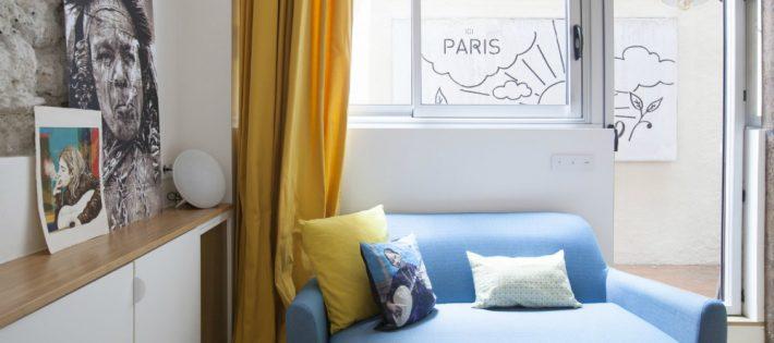 Un Petit Pied-à-Terre de 40m2 a Paris par l'Architect Remy Bardin salon terrasse sloft magazine 710x315