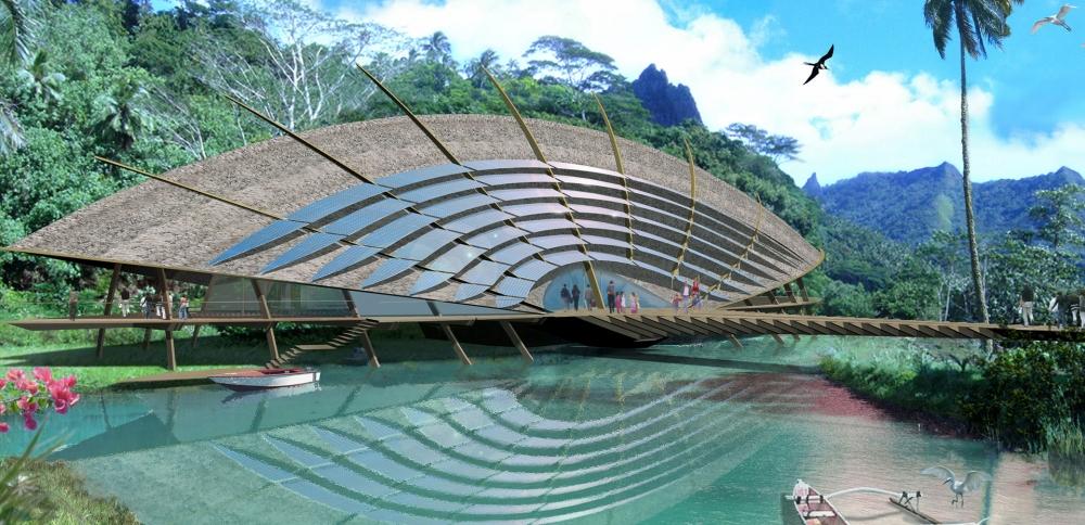 Pourquoi Jacques Rougerie est l'architecte du développement durable ? 1 Moorea Grand format