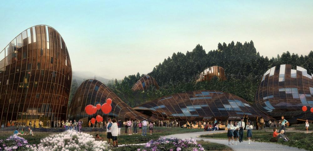 Pourquoi Jacques Rougerie est l'architecte du développement durable ? Chengdu2 GrandFormat