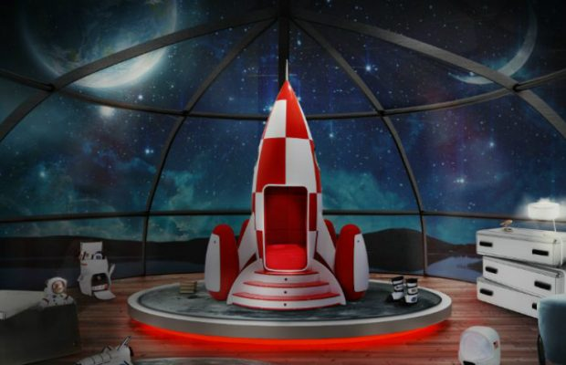 Le Rocky Rocket est le fauteuil idéal pour la chambre de votre enfant