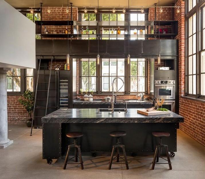 Le Design Incroyable d'une Cuisine de Style Industriel ! Le Design Incroyable dune Cuisine de Style Industriel 4