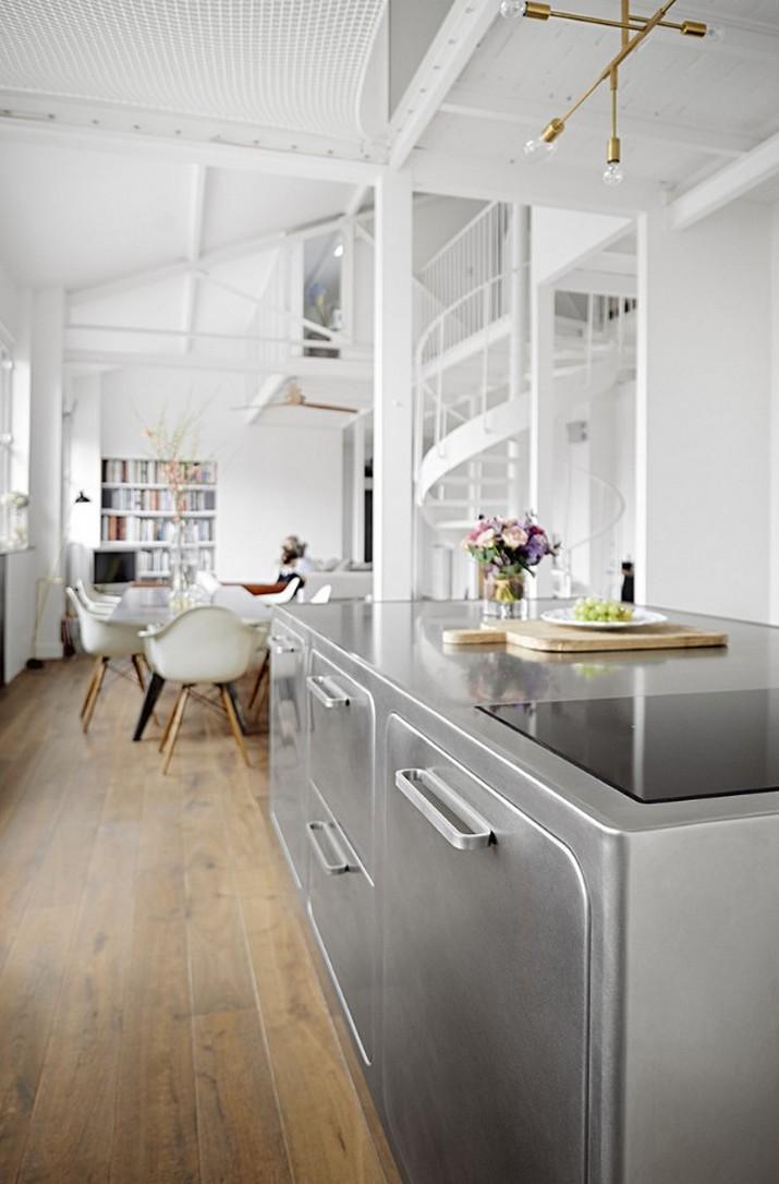Une Cuisine de Style Industriel dans le Paris Romantique que vous allez Adorer  Une Cuisine de Style Industriel dans le Paris Romantique que vous allez Adorer Une Cuisine de Style Industriel dans le Paris Romantique que vous allez Adorer 4