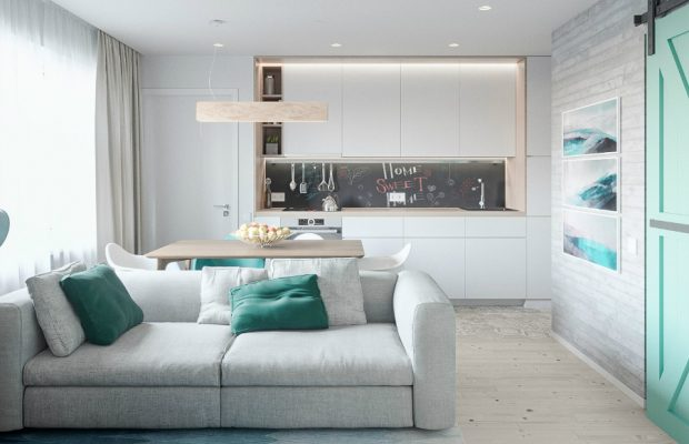 Mélange de Style Scandinave et de Pastels dans un Appartement de Kiev oooo 1 620x400