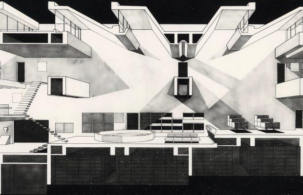 Arata Isozaki – Prix Pritzker 2019 11 Section perspective1 Oita Prefectural Library 1966 620x400
