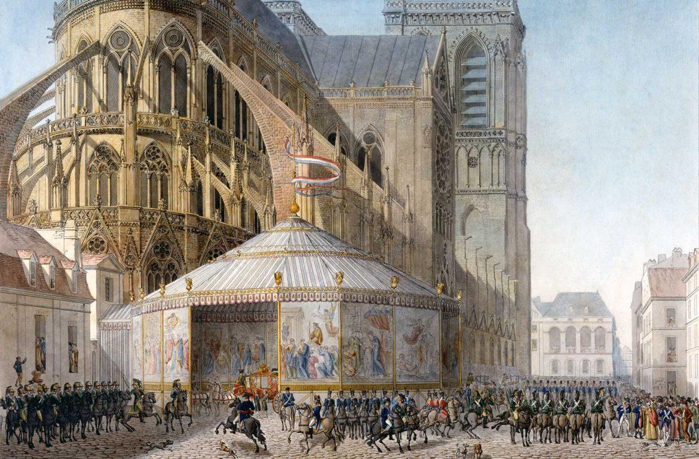 La Belle Notre Dame napoleon i coronation arrival NOTRE0419 notre dame Notre Dame: the Story of the Lady of Paris napoleon i coronation arrival NOTRE0419