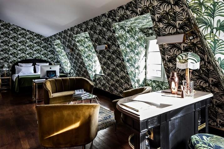 """Le décor '' Fitzgerald '' à l'hôtel Providence à Paris  Le décor """" Fitzgerald """" à l'hôtel Providence à Paris Le d  cor Fitzgerald    lh  tel Providence    Paris 5"""