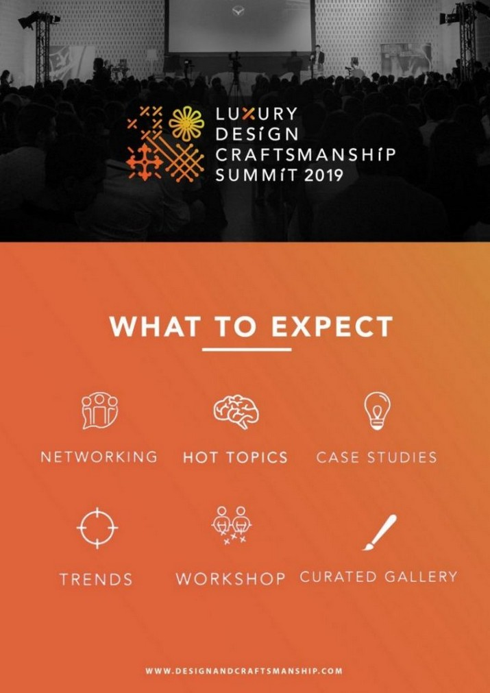 Préparez-vous pour le 2º Sommet du Design et de l'Artisanat de Luxe Pr  parez vous pour le 2   Sommet du Design et de lArtisanat de Luxe 4