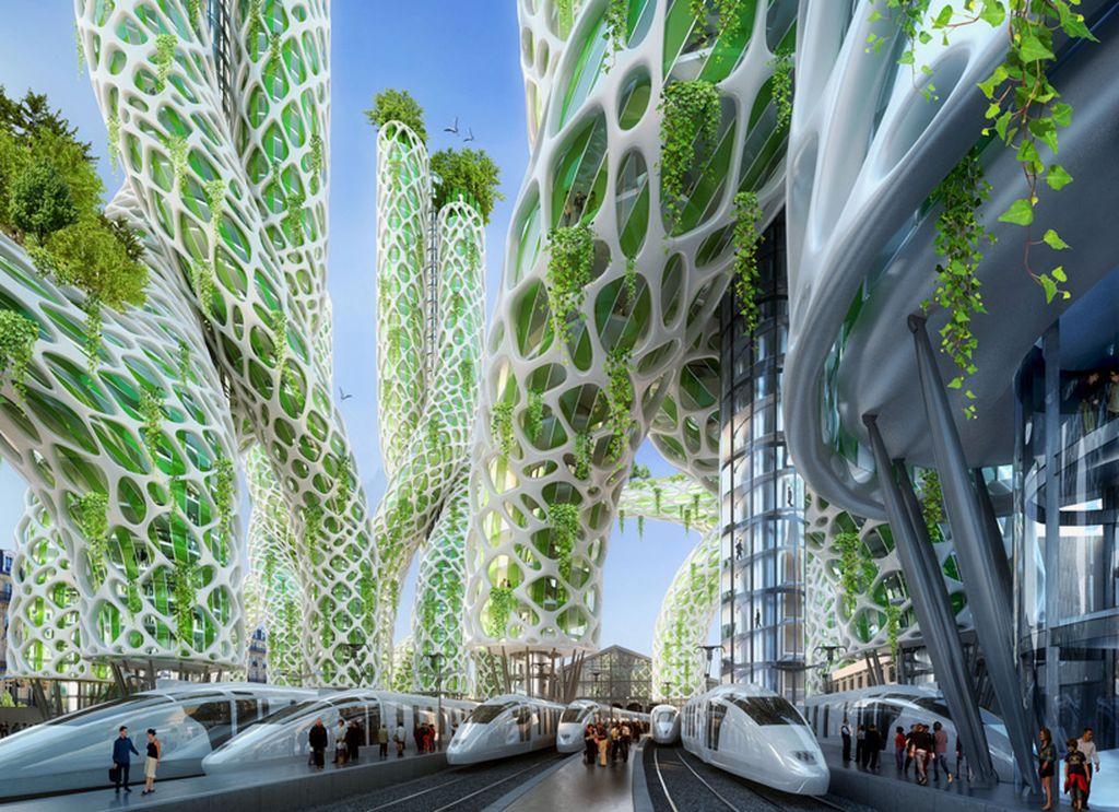 Paris 2050 paris Paris 2050, by Vincent Callebaut Mangrove gare du nord 10e
