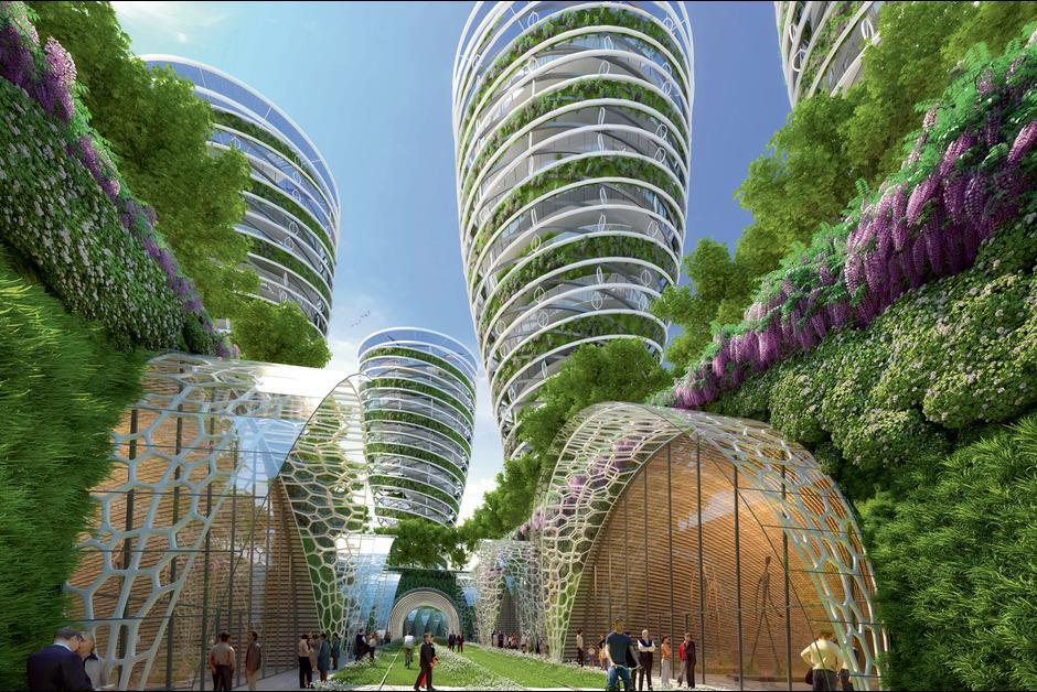 Paris 2050 paris Paris 2050, by Vincent Callebaut antismog towers 14e petite ceinture