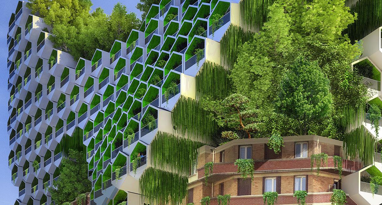 Paris 2050 paris Paris 2050, by Vincent Callebaut honeycomb tower 20e porte des lilas